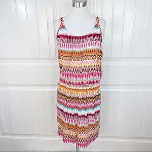 Ann Taylor Loft Ikat Print Mini Casual Tank Dress